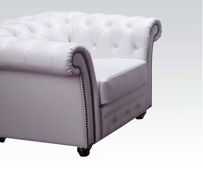 Picture of Contemporary White Bonded Leather Chair