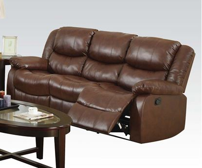Picture of Fullerton Brown Bonded Leather Match Finish Motion Recliner Sofa
