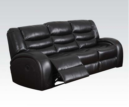 Picture of Modern Dacey Espresso Bonded Leather Motion Recliner Sofa