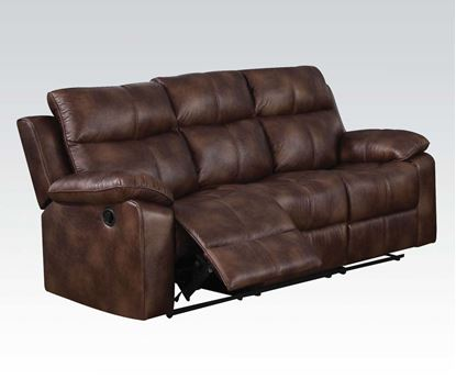 Picture of Dyson Light Brown Polished Microfiber Motion Sofa