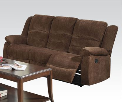 Picture of Bailey Dark Brown Chenille Motion Sofa