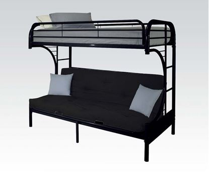 "Picture of ""C"" T/F/Futon Metal Bunkbed, Rd, Bu, Wh, Bk"