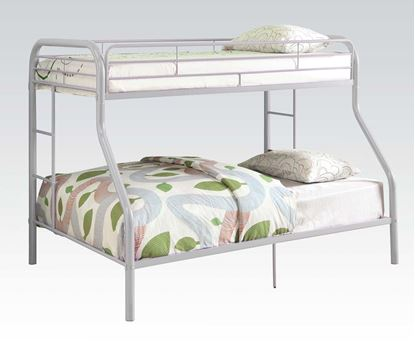 """Picture of 2"""" Tube Red Twin Over Full Metal Bunk Bed"""