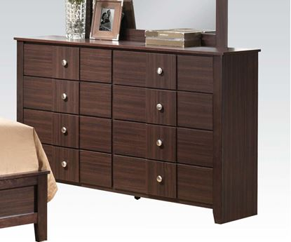 Picture of Contemporary Racie Dark Merlot Dresser