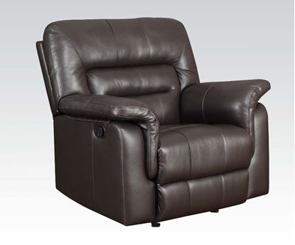 Picture of Modern Dark Brown Bonded Leather Recliner