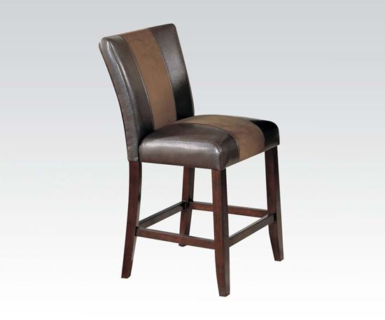 Picture of Britney  brown leather/ vinyl upholstered 2Pcs. counter height chair  (Set of 2)