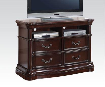 Picture of Veradisia Dark Cherry 4 Drawer TV Console