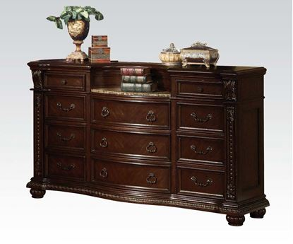 Picture of Anondale Traditional Cherry Marble Top Dresser