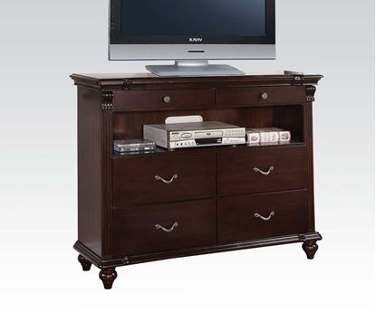 Picture of Cleveland Carving Dark Cherry Finish TV Chest by Chest