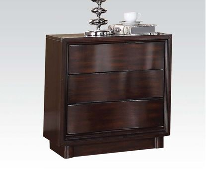 Picture of Travell High Back Walnut Finish Night Stand