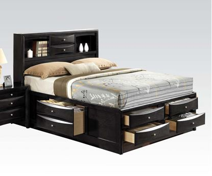 Picture of Ireland Black Finish Queen Platform  Bed