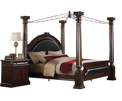 Picture of Roman Empire Cherry Finish Queen Poster Bed