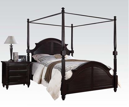 Picture of Charisma Dark Espresso Finish Eastern King Canopy Bed