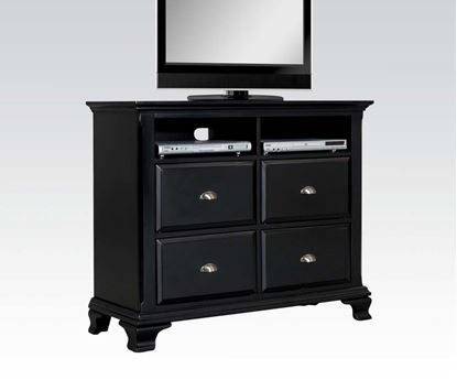 Picture of Canterbury Contemporary Black Wood Media Chest
