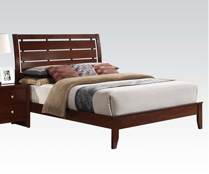 Picture of Contemporary ilana Brown Cherry Finish Queen Size Bed