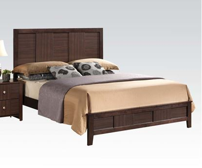 Picture of Contemporary Racie Dark Merlot Queen Bed