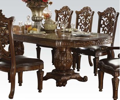 Picture of Vendome Dark Cherry Finish Formal Dining Room Table