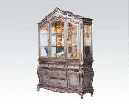 Picture of Modern Chantelle Antique Platinum Buffet with Hutch