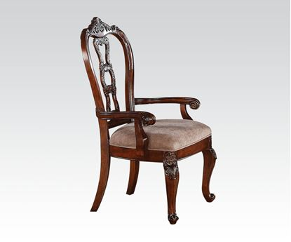 Picture of Nathaneal Tobacco 2 Pcs. Arm Chair    (Set of 2)