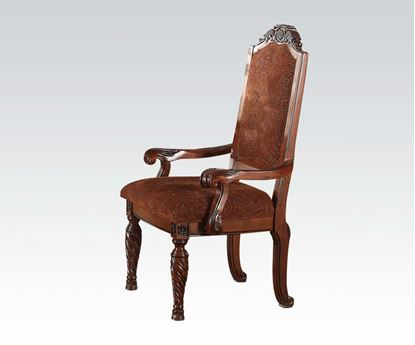 Picture of Quimby Cherry Finish 2 Arm Chair by    (Set of 2)