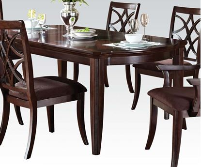 Picture of Keenan Dining Table in Dark Walnut Finish with Tapered Legs