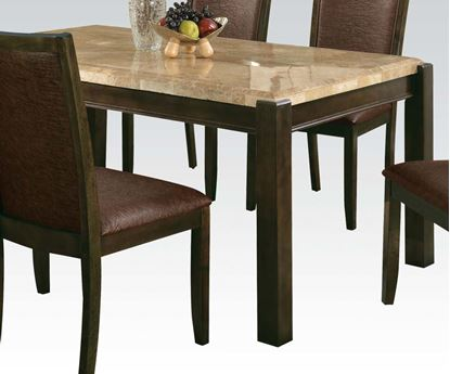 Picture of Charissa Aegean Brown Marble Top Dining Table