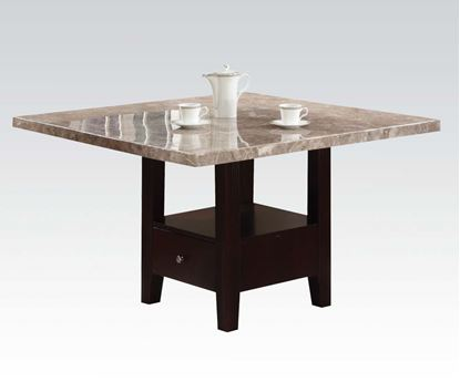 Picture of Britney Contemporary White Marble Top Dining Table