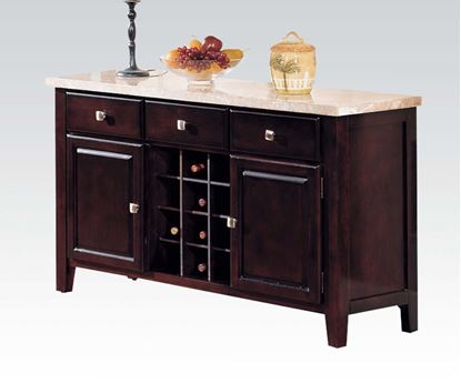 Picture of Danville Contemporary White Marble Top Server