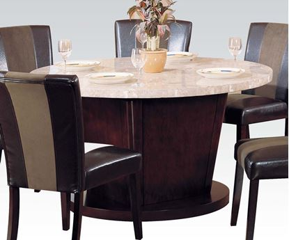 Picture of Contemporary White Round Marble Top Dining Table