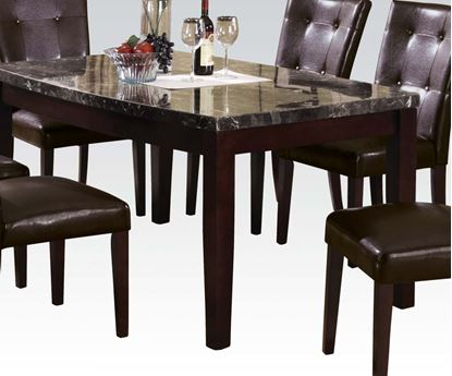 Picture of Britney Contemporary Brown Marble Top Dining Table