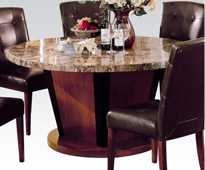 Picture of Round Brown Marble Top Dining Table