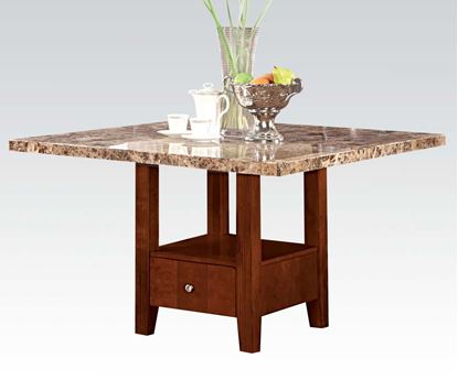 Picture of Furniture  Square Marble Top Storage Dining Table