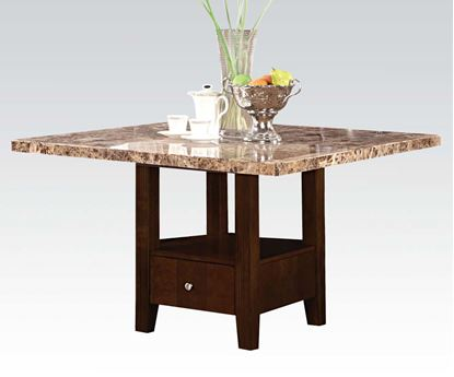 Picture of Granada Square Dining Table with Brown Marble Top