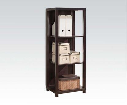 Picture of Carmeno Espresso Finish Wood 3 Tier Book Case Shelf Unit