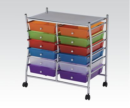 Picture of Storage Cart w/12 drawers Mobile Organizer